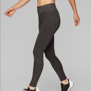 Athleta Seamless Shimmer Copper Tights